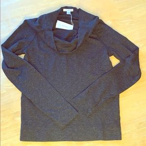 James Perse Charcoal Cowl Neck Sweater